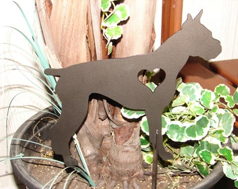 Boxer Dog Memorial GARDEN STAKE Lawn Pet Yard