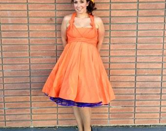 Orange Infinity Convertible Wrap Twist Dress ... 37 Colors... Bridesmaids Dress, Bridal Party Dress, Plus Size Dress, Beach Wedding Dress