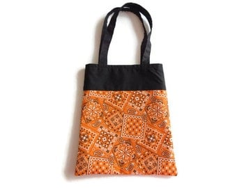Orange Bandana Gift Bag - Goodie Bag - Mini Tote