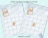 Vintage Baby Shower Baby Bingo Cards C-584 Digital Download Baby BoyBingo Cards YOU PRINT