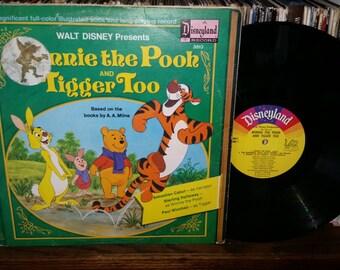 Walt Disney Presents Winnie The Pooh And Tigger Too Vintage Vinyl Record Book