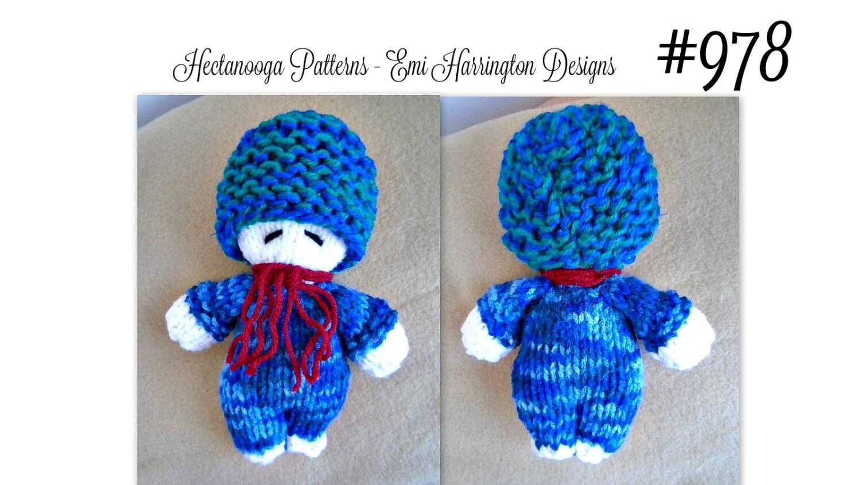 Knit baby doll softie KNITTING PATTERN Sleepy time doll