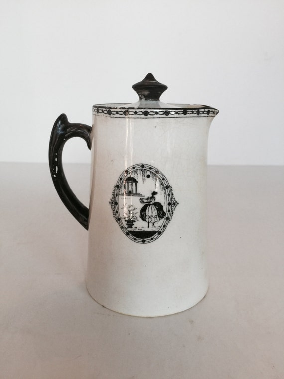 Small Black And White Silhouette Tea Pot