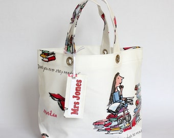 Roald Dahl Matilda Personalised Oilcloth Lunch Tote