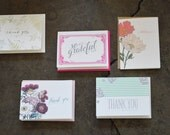 SALE - Thank You Flat Printed Greeting Card Pack (Assorted) - 20 Cards And Envelopes