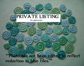 PRIVATE LISTING for  glamcorsair - Stamped Circles - Ceramic Mosaic Tile Set