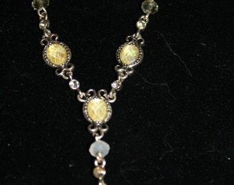 Silvertone Faux Gem Avon Necklace