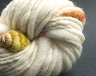 Prairie, Mostly Merino, CoilSpun BeeHive Art Yarn, HandSpun HandDyed Yarn, 30 yards