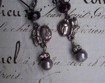 A Rose is a Rose - Vintage Assemblage Earrings