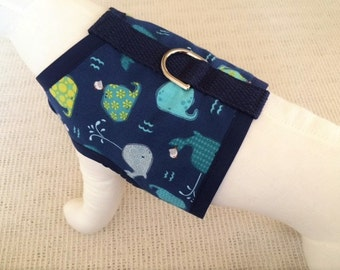Whale Watching Dog Harness Vest