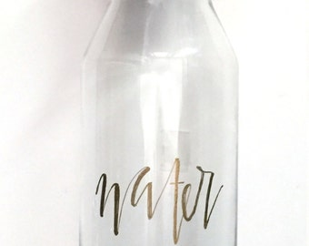 Glass Water Bottle with Cork Top