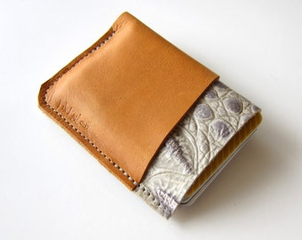 Leather Wallet - 3 Pocket - Raw and Rustic - Two Color with Textured Leather