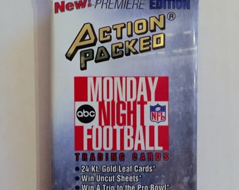 Vintage 1993 Action Packed Monday Night Football Unopened Pack