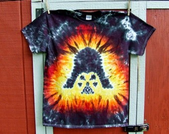 Adult Large Darth Vader Star Wars Tie Dye T-shirt - Ready to Ship