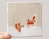 tiny blizzard / original painting on canvas