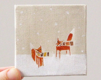 tiny blizzard / original painting on canvas