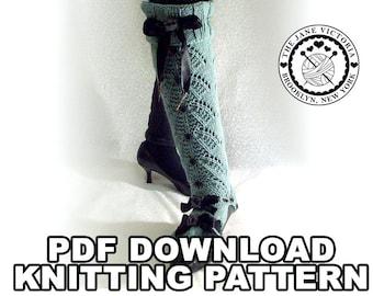 Legwarmers Knitting PATTERN, Isil Saralonde, PDF DOWNLOAD