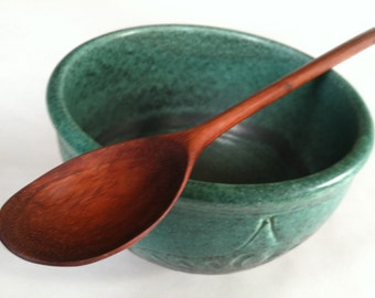 Large Reclaimed KOA beautiful wood grain Serving spoon/Mixing Spoon