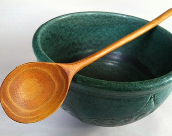 MED mixing/tasting spoon ECO carved Osage Orange