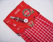 Hanging kitchen towel  button top Coke Coca Cola