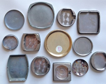 SALE Lot of 12 Old Watch Bezels - Watch Back Plates - Watch Parts - Mixed Media - Steampunk - Supplies - Vintage
