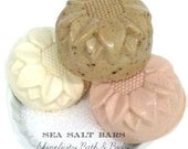 Sea Salt Soap Spa Bars - Pure Pacific Sea Salt and Shea Butter - rich therapeutic benefits - Choose from 5 Scents