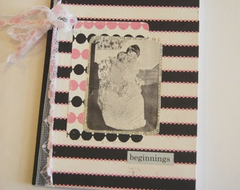 Hand Crafted Notebook, New Momma, Mother and Child