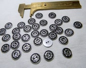 "Cast Metal Sun Buttons with Antiquing -1/2"" 2H - Unused Set of 16 - Great for Southwest Decorating or Clothing"