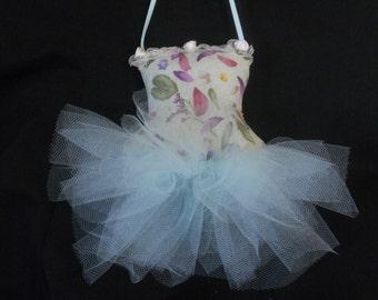 Pale green and lavender ballerina sachet, ballerina sachet