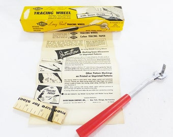Vintage 1950 traum long point tracing wheel transfers seam sewing