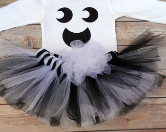 Ghost Halloween Tutu- Halloween Outfit-Halloween Costume-Halloween-Baby Costume