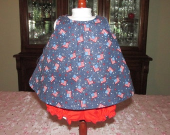"""18"""" Doll Sundress and Bloomer Set, Proud to be American"""