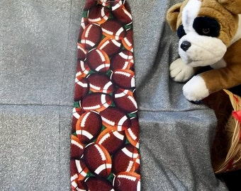 Plastic Bag Holder Sock, Footballs Print