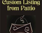 Custom navy blue clutch for Catriona
