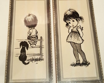 Pair of Vintage Lee Lithographs