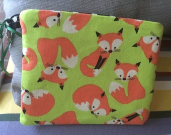Foxes, Dog treat pouch, velcro pouch, pouch