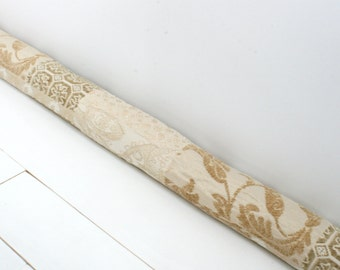 Door Draft Stopper - Beige Door Snake -  Modern Home Decor - Neutral Draft Stopper - Traditional Beige Door Snake. 155