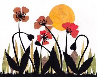 Original In Bloom Wildflower Papercutting
