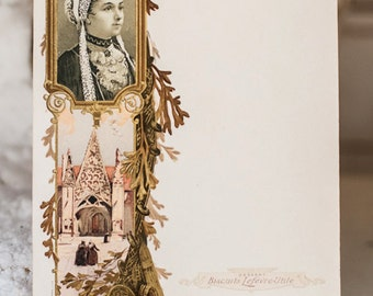 Antique French Art Nouveau Menu ~ Lovely Graphics