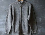 Pendleton Wool Sweater Zip Cardigan Mens Small Gray From Nowvintage on Etsy