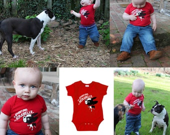 Boston terrier BABY KIDS ONESIES Our Most Adventurous Onesie