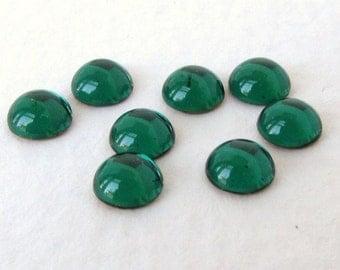 Vintage Swarovski Crystal Glass Cabochon Emerald Green Tiny Rhinestone Rounds 5mm swa0723 (12)