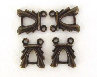Vintage Connector Antiqued Brass Ox Link Metal Bracelet Finding 12mm cnn0187 (4)