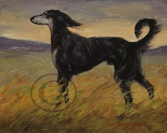 Saluki Hound - 11x14 print from painting sold by artist