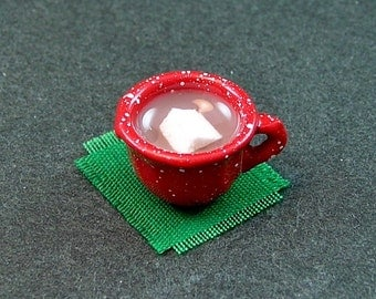 Hot Cocoa with Homemade Marshmallow  (1:12th Scale)