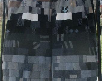 Blanket - Recycled Wool Sweaters - Gunmetal Grey - by FeltSassy