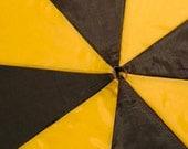 Black and Yellow 2 Tone Upcycled Umbrella Dog Rain Coat
