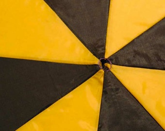 Black and Yellow 2 Tone Upcycled Umbrella Dog Rain Coat