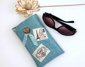 Roomy Sunglasses Case in a Parisian Theme