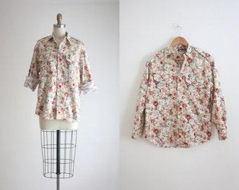 floral boyfriend blouse